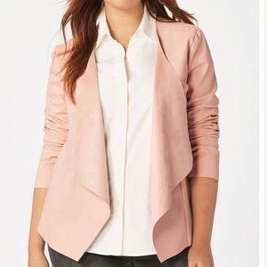 JustFab Pink Faux leather jacket